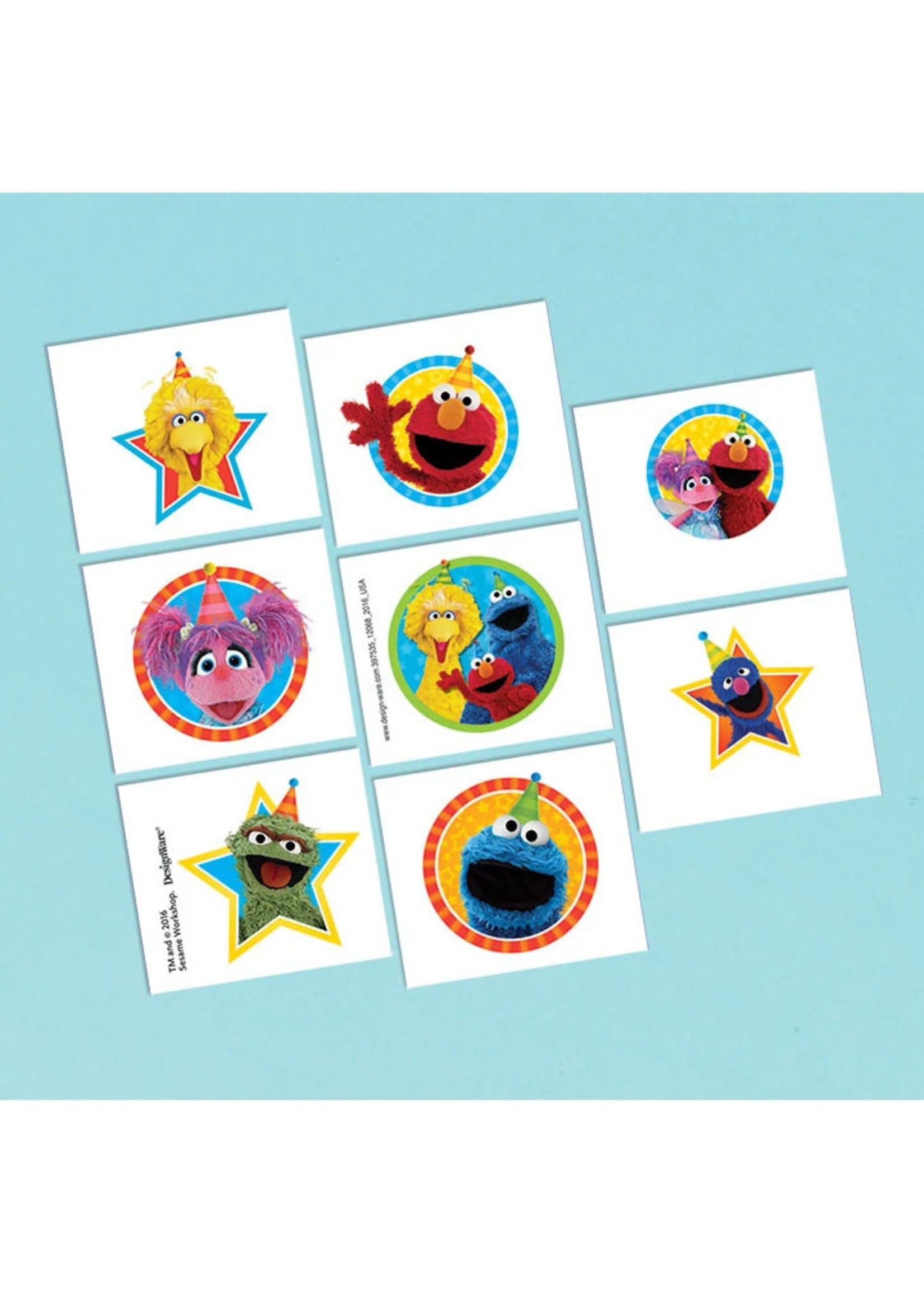 Sesame Street Tattoos Favors - 8ct