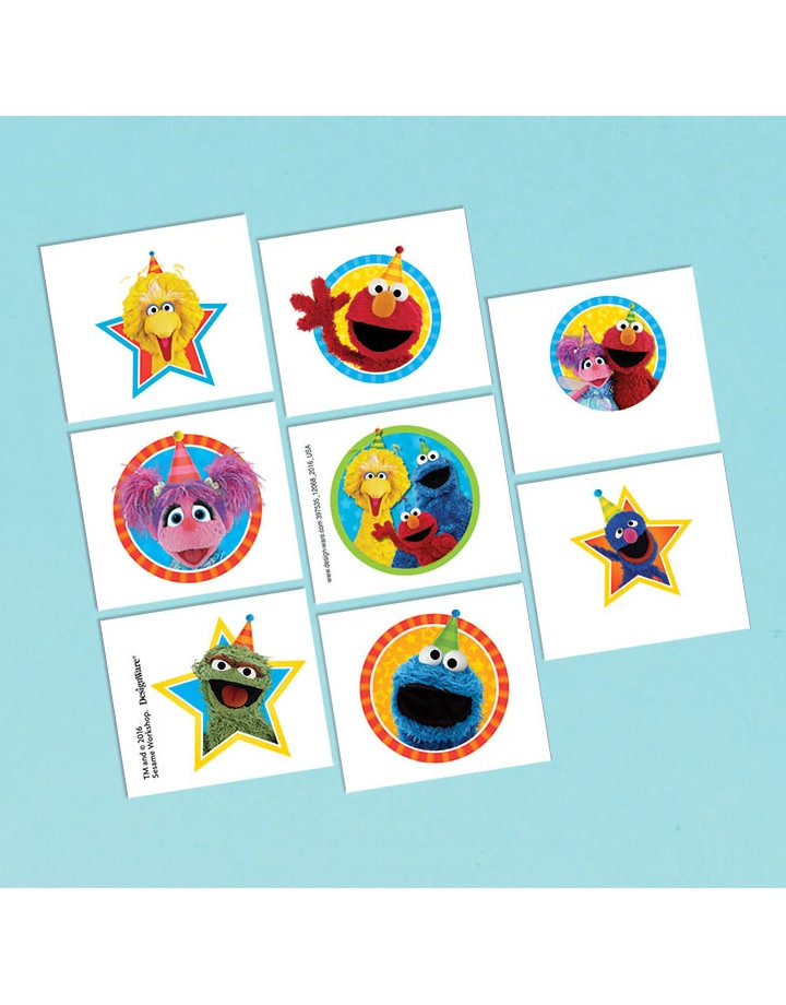 Sesame Street Tattoos Favors - 8ct