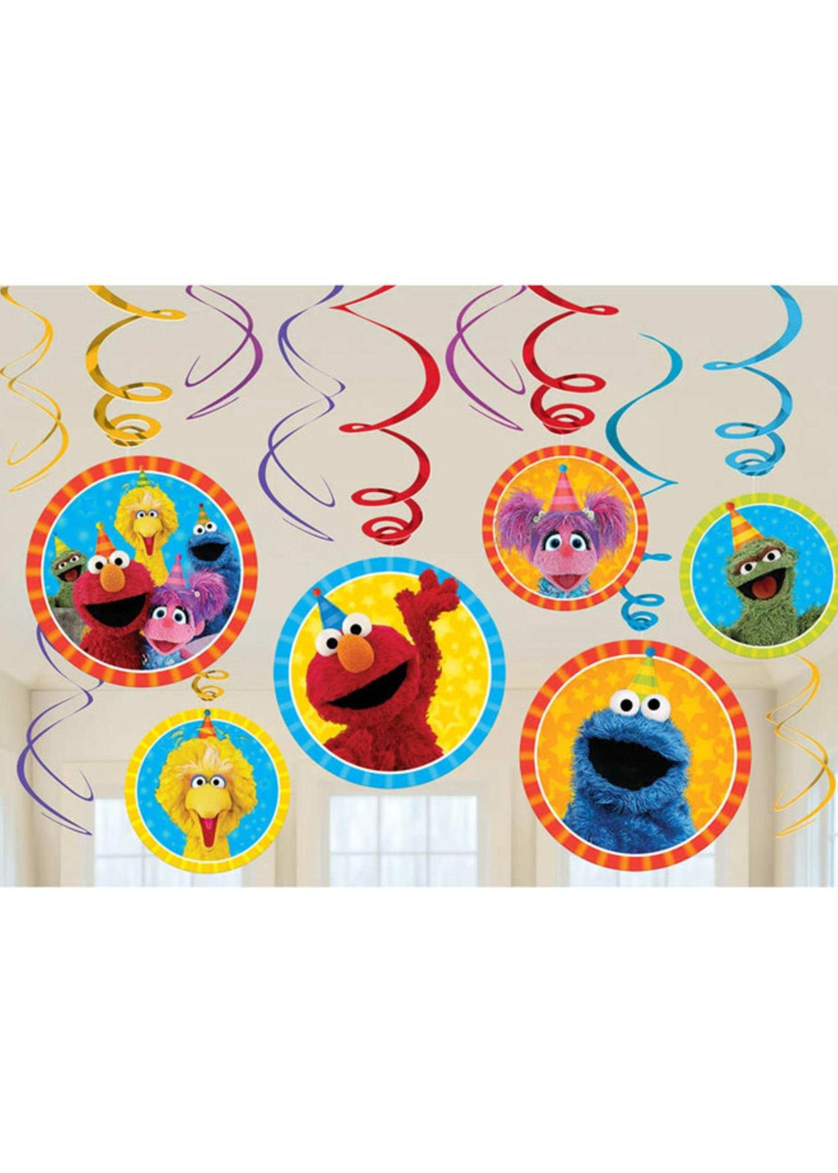 Sesame Street Hanging Swirls - 12ct