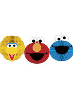 Sesame Street Honeycomb Decorations - 3ct