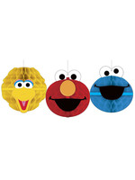 Sesame Street Honeycomb Decorations - 3ct
