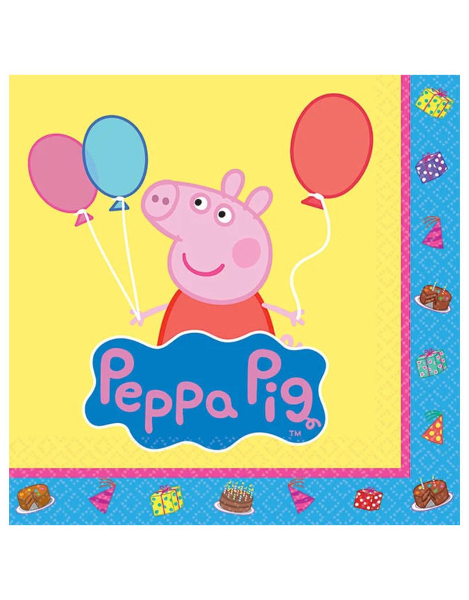 Peppa Pig Beverage Napkins - 16ct