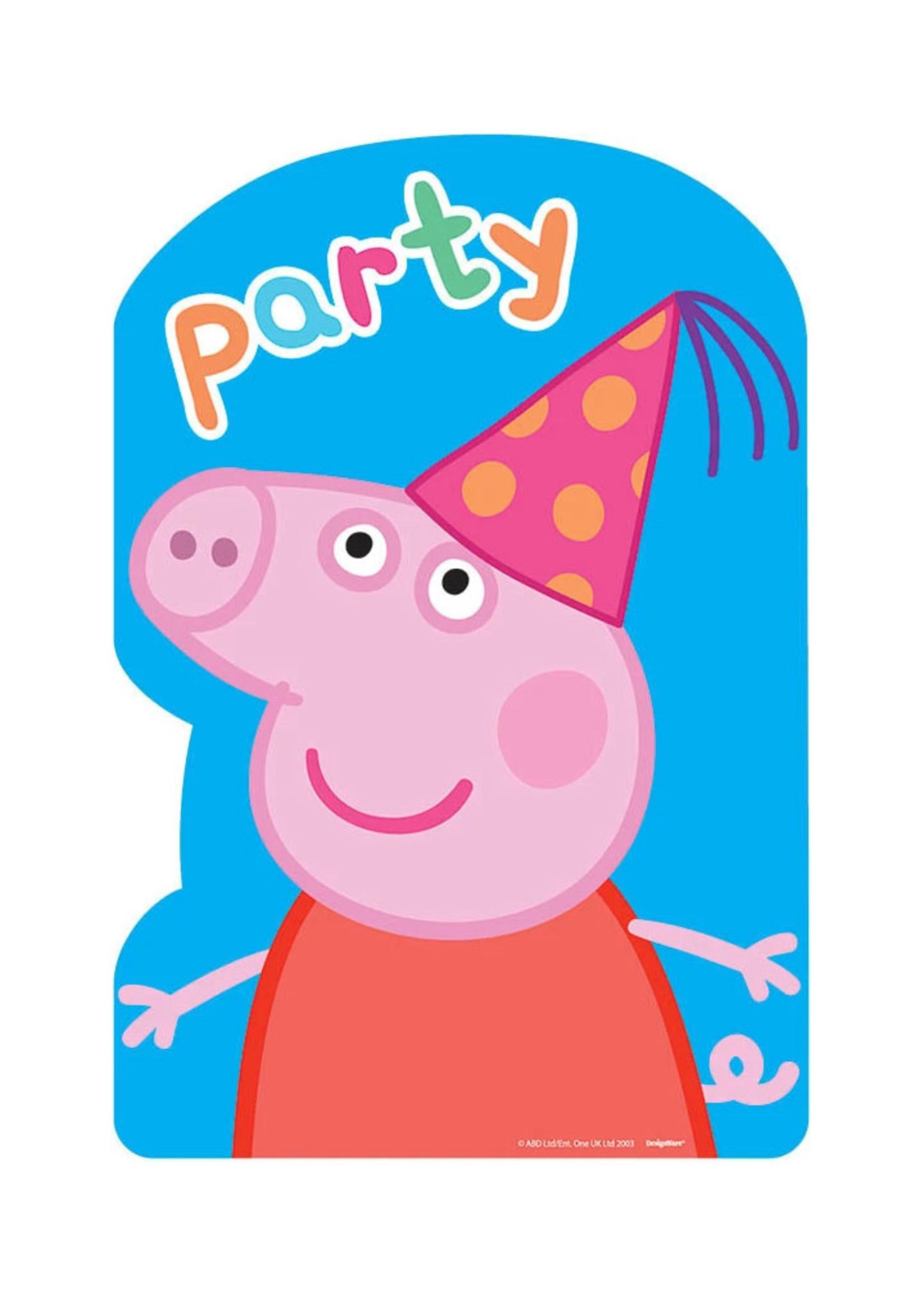 Peppa Pig Postcard Invites - 8ct