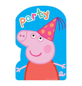 Peppa Pig Postcard Invites - 8ct