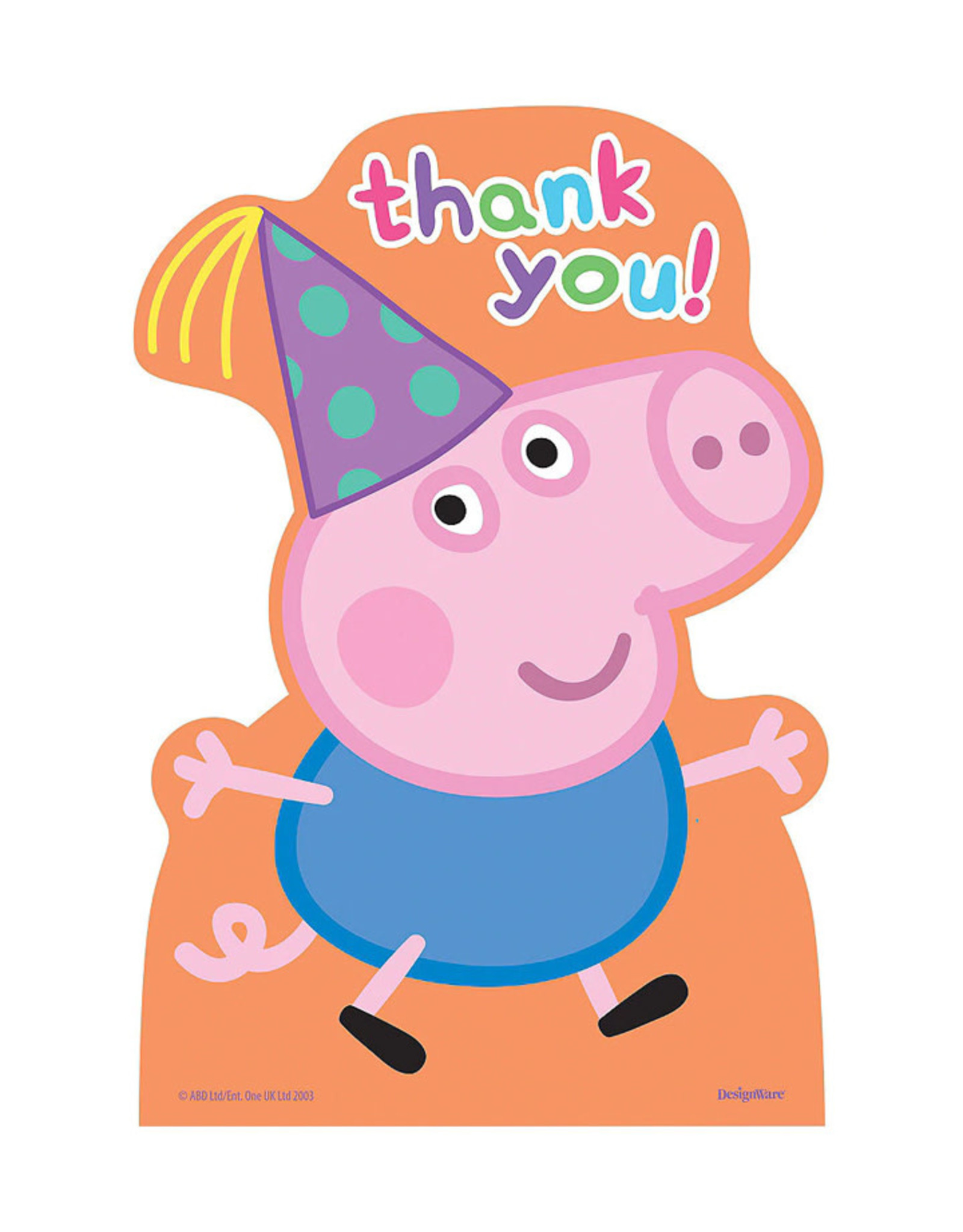 Peppa Pig Thank You Cards - 8ct