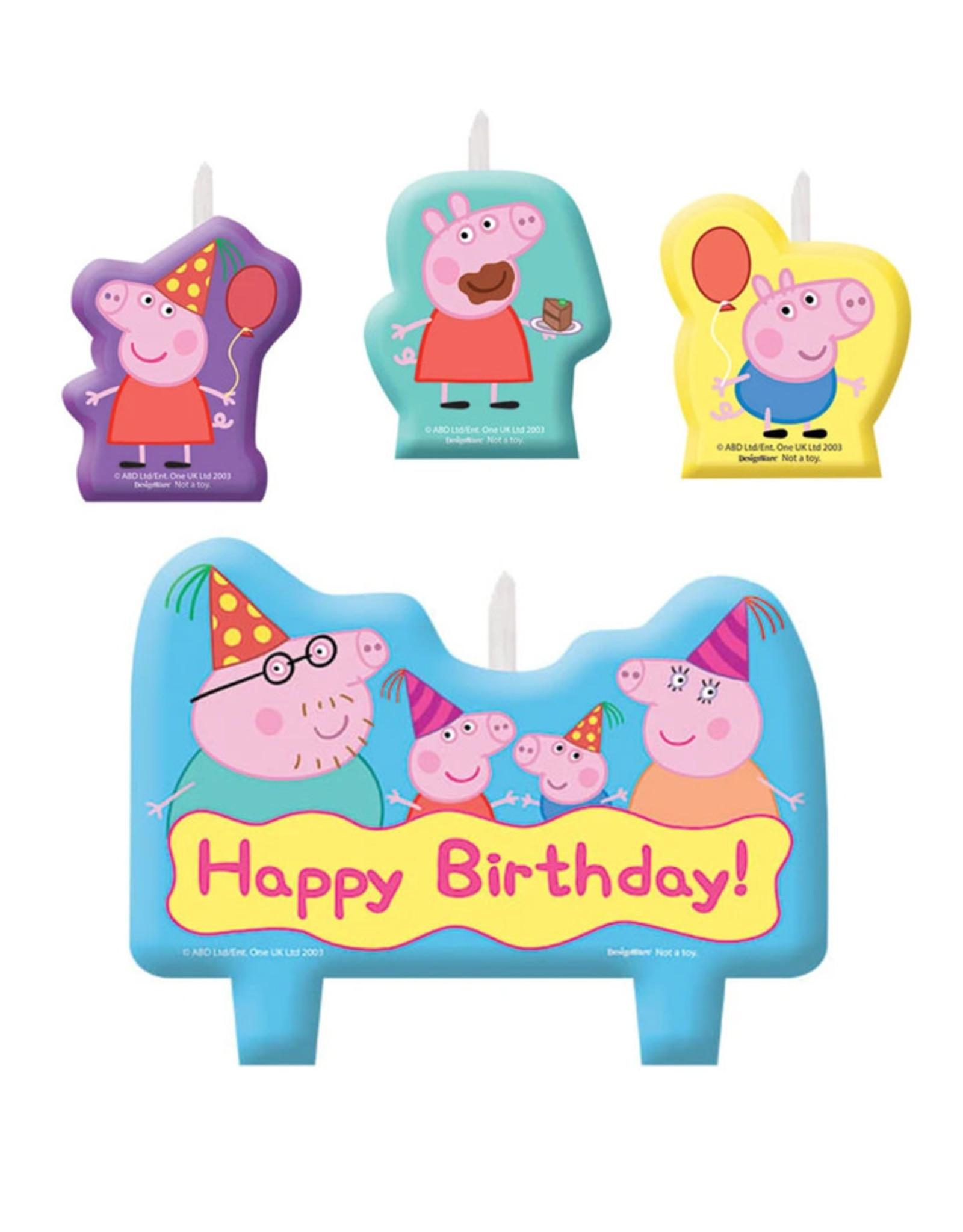 Peppa Pig Birthday Candle Set - 4ct