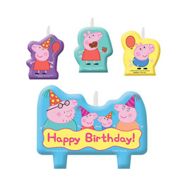 Peppa Pig Birthday Candle Set - 4ct