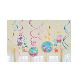 Peppa Pig Hanging Swirls - 12 ct