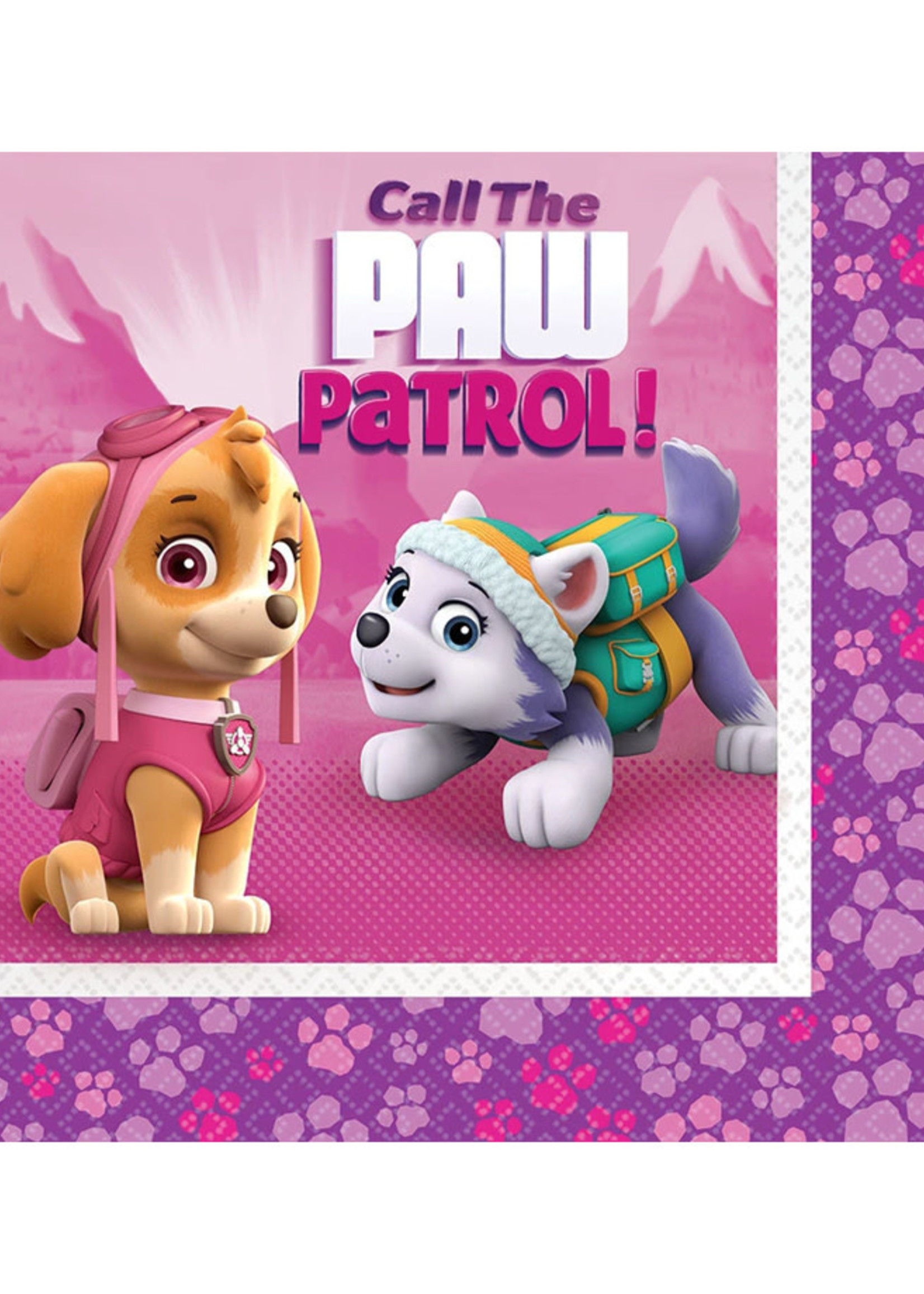 Paw Patrol Girl Luncheon Napkins - 16ct