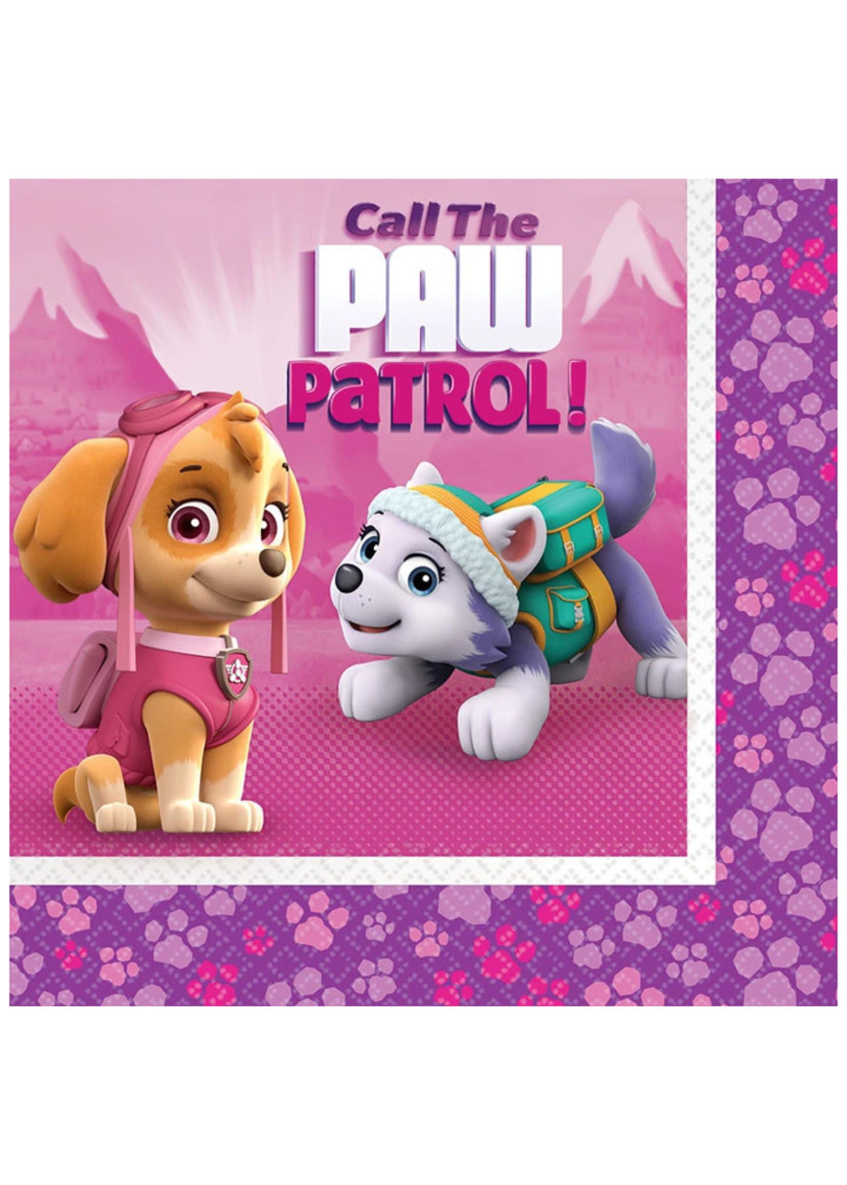 Paw Patrol Girl Luncheon Napkins - 16ct