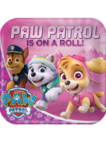 Paw Patrol Girl Dinner Plates - 8ct