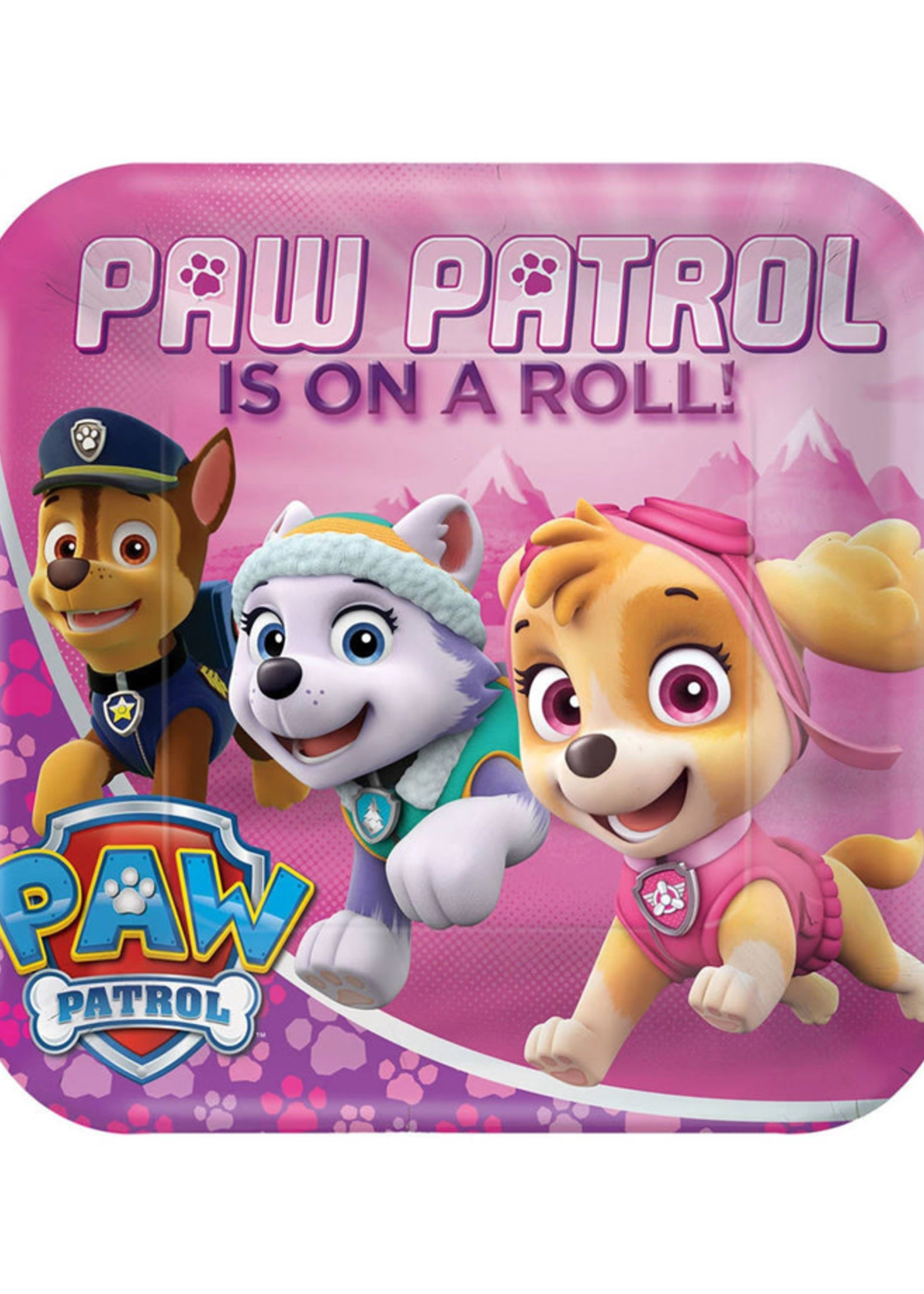 Paw Patrol Girl Dinner Plates - 8ct
