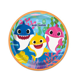 UNIQUE INDUSTRIES INC Baby Shark Dinner Plates - 8ct