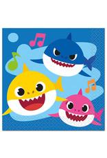 UNIQUE INDUSTRIES INC Baby Shark Beverage Napkins - 16ct