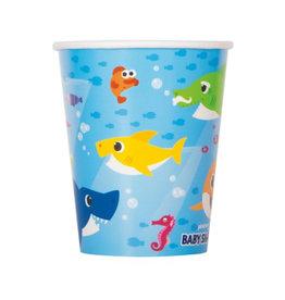 UNIQUE INDUSTRIES INC Baby Shark Paper 9oz Cups - 8ct