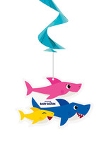 UNIQUE INDUSTRIES INC Baby Shark 26in Dangling Swirl Decorations - 3ct