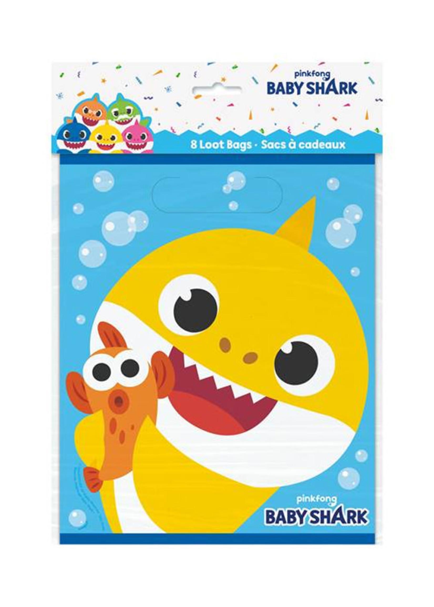 UNIQUE INDUSTRIES INC Baby Shark Loot Bags - 8ct