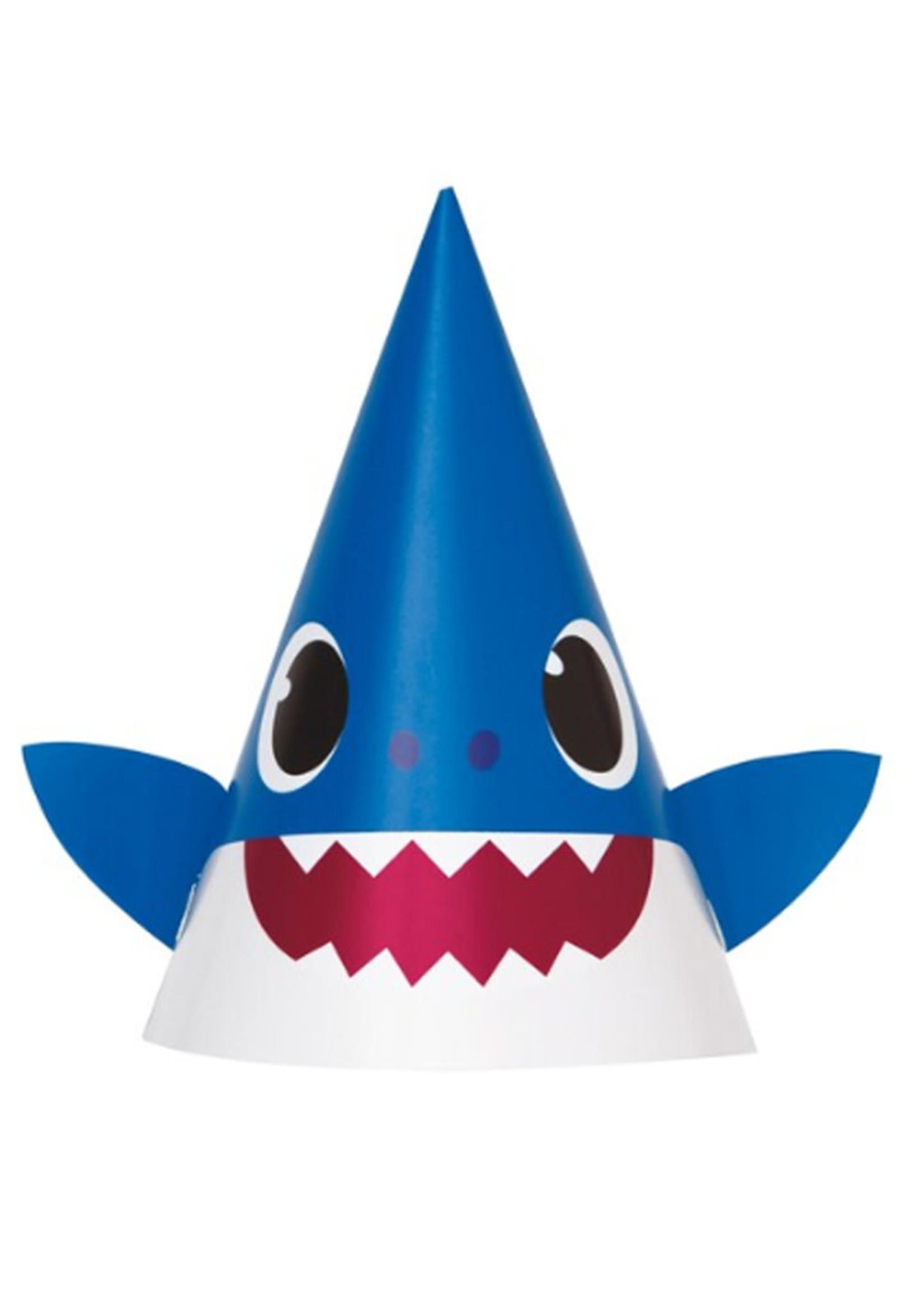 UNIQUE INDUSTRIES INC Baby Shark Party Hats - 8ct