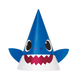 UNIQUE INDUSTRIES INC Baby Shark Party Hats - 8ct