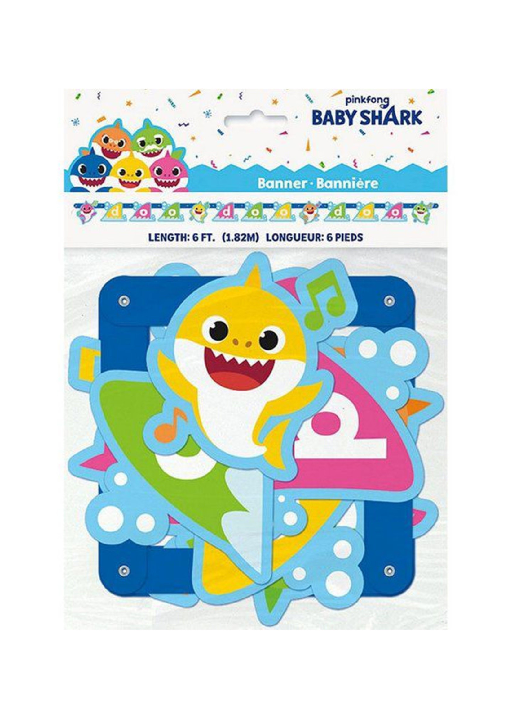 UNIQUE INDUSTRIES INC Baby Shark Large Jointed Banner