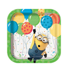 UNIQUE INDUSTRIES INC Despicable Me Minions Dessert Plates - 8ct