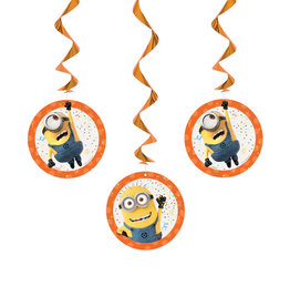 UNIQUE INDUSTRIES INC Despicable Me Minions Hanging Decorations - 3ct