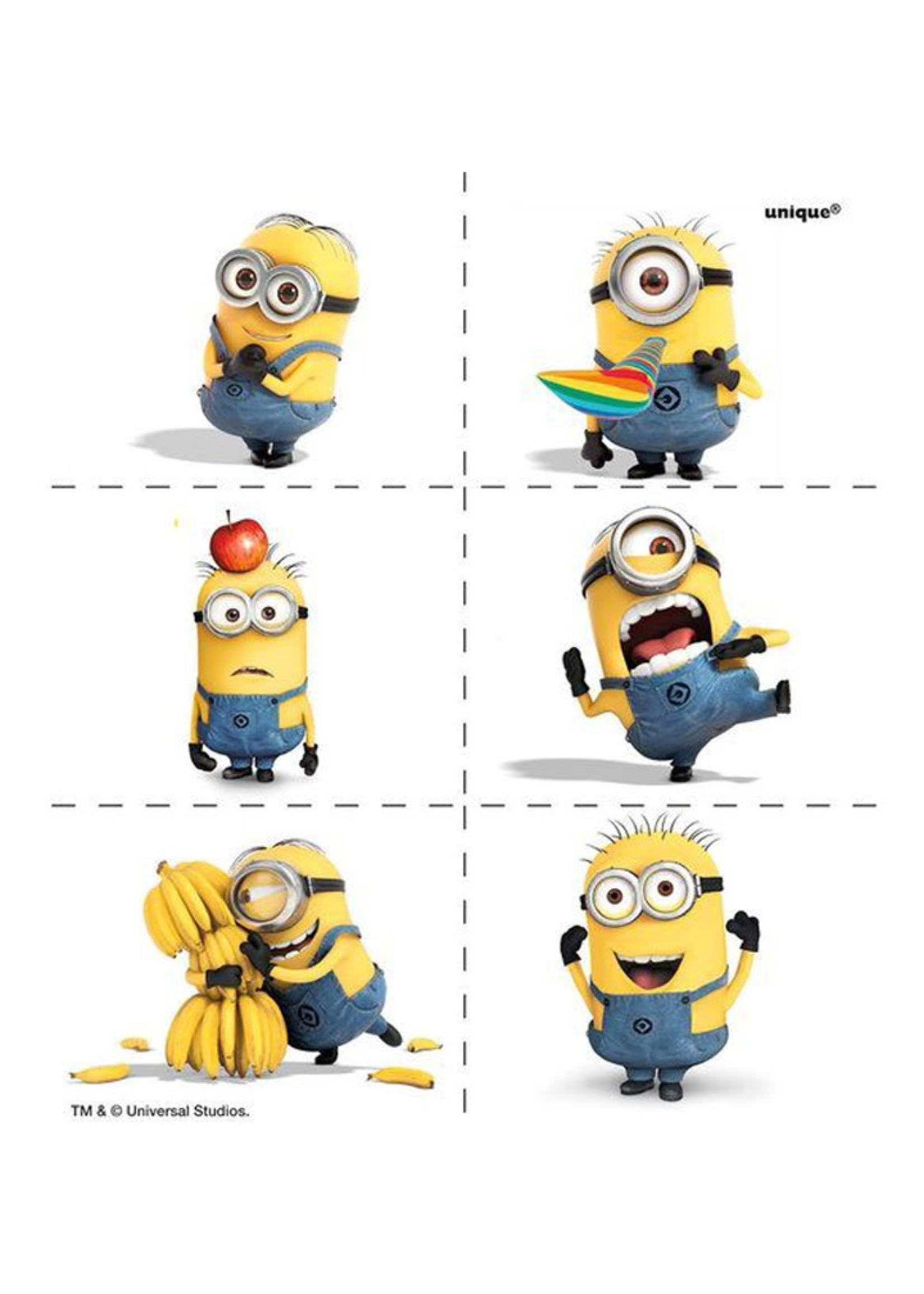 Despicable Me Minions Tattoo Favors - 4ct