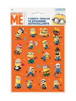 UNIQUE INDUSTRIES INC Despicable Me Minions Sticker Sheets - 4ct