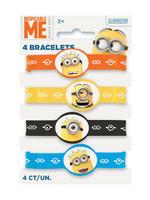 Despicable Me Minions Rubber Stretchy Bracelets - 4ct