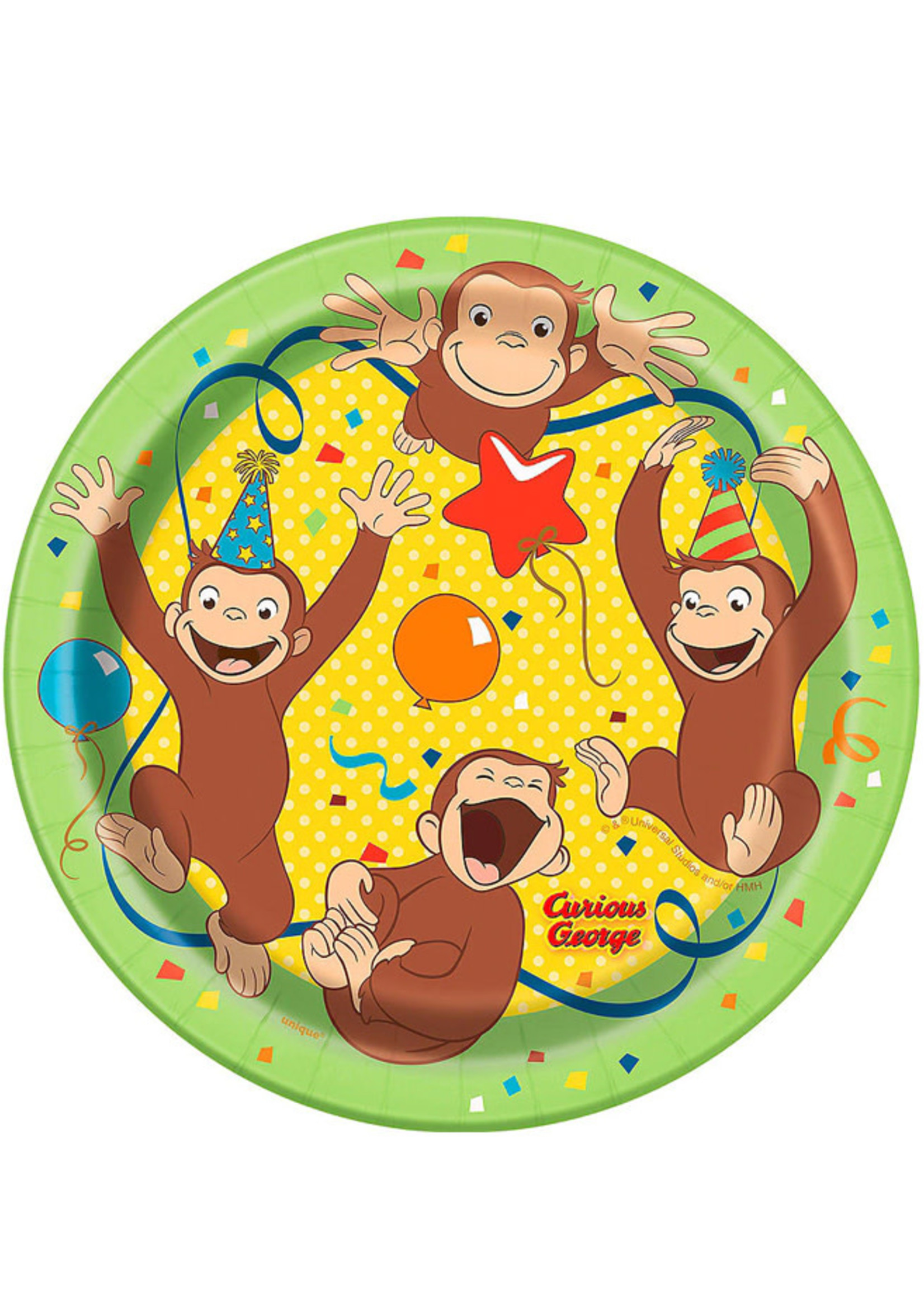 UNIQUE INDUSTRIES INC Curious George Dessert Plates - 8ct