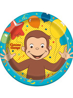 UNIQUE INDUSTRIES INC Curious George 9in Luncheon Plates - 8ct