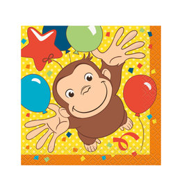 UNIQUE INDUSTRIES INC Curious George Beverage Napkins - 16ct