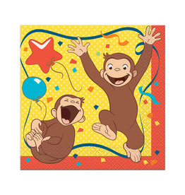 UNIQUE INDUSTRIES INC Curious George 7in Luncheon Napkins - 16ct