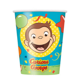UNIQUE INDUSTRIES INC Curious George 9oz Paper Cups - 8ct