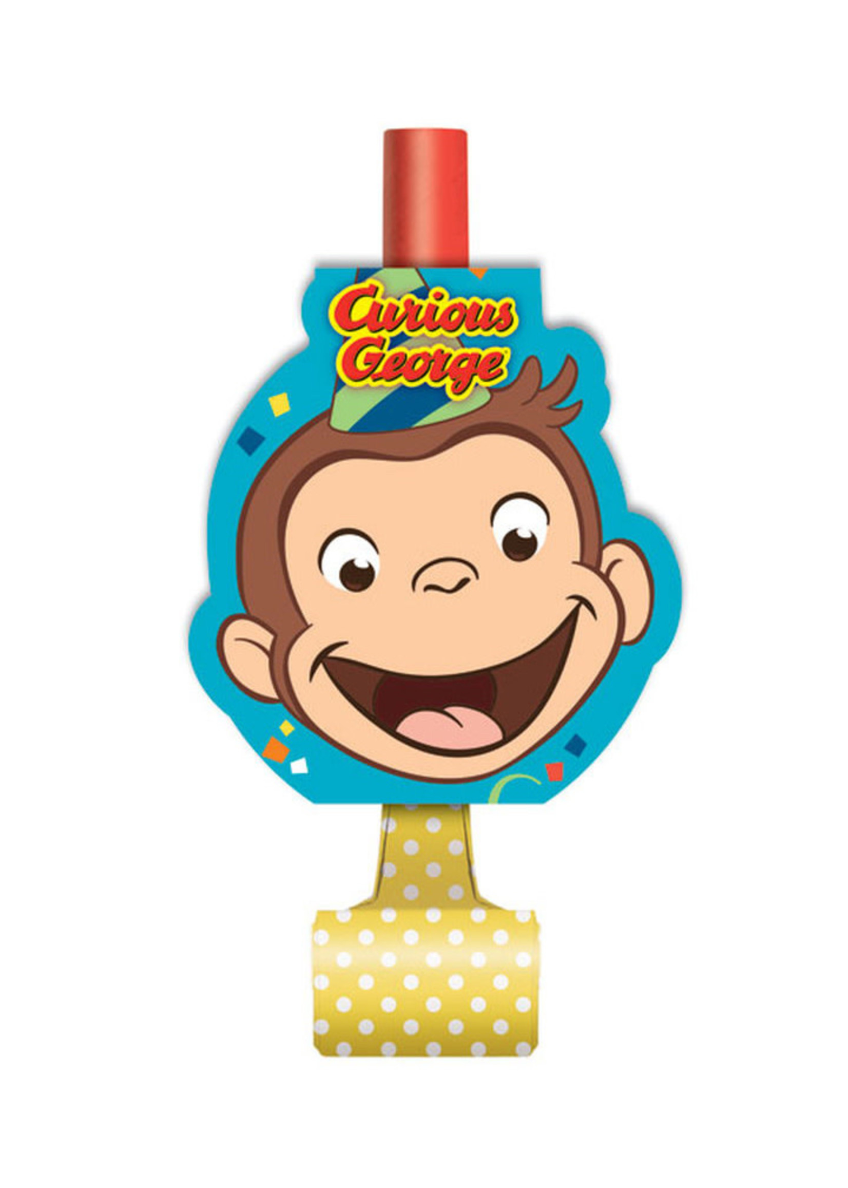 UNIQUE INDUSTRIES INC Curious George Blowouts - 8ct