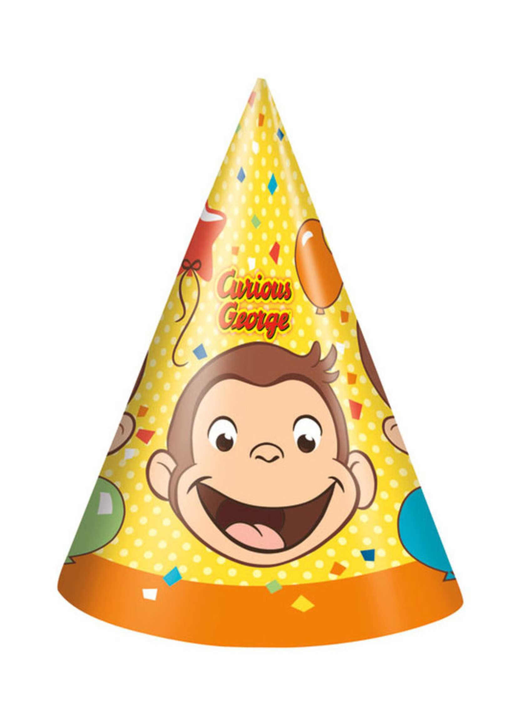UNIQUE INDUSTRIES INC Curious George Party Hats - 8ct