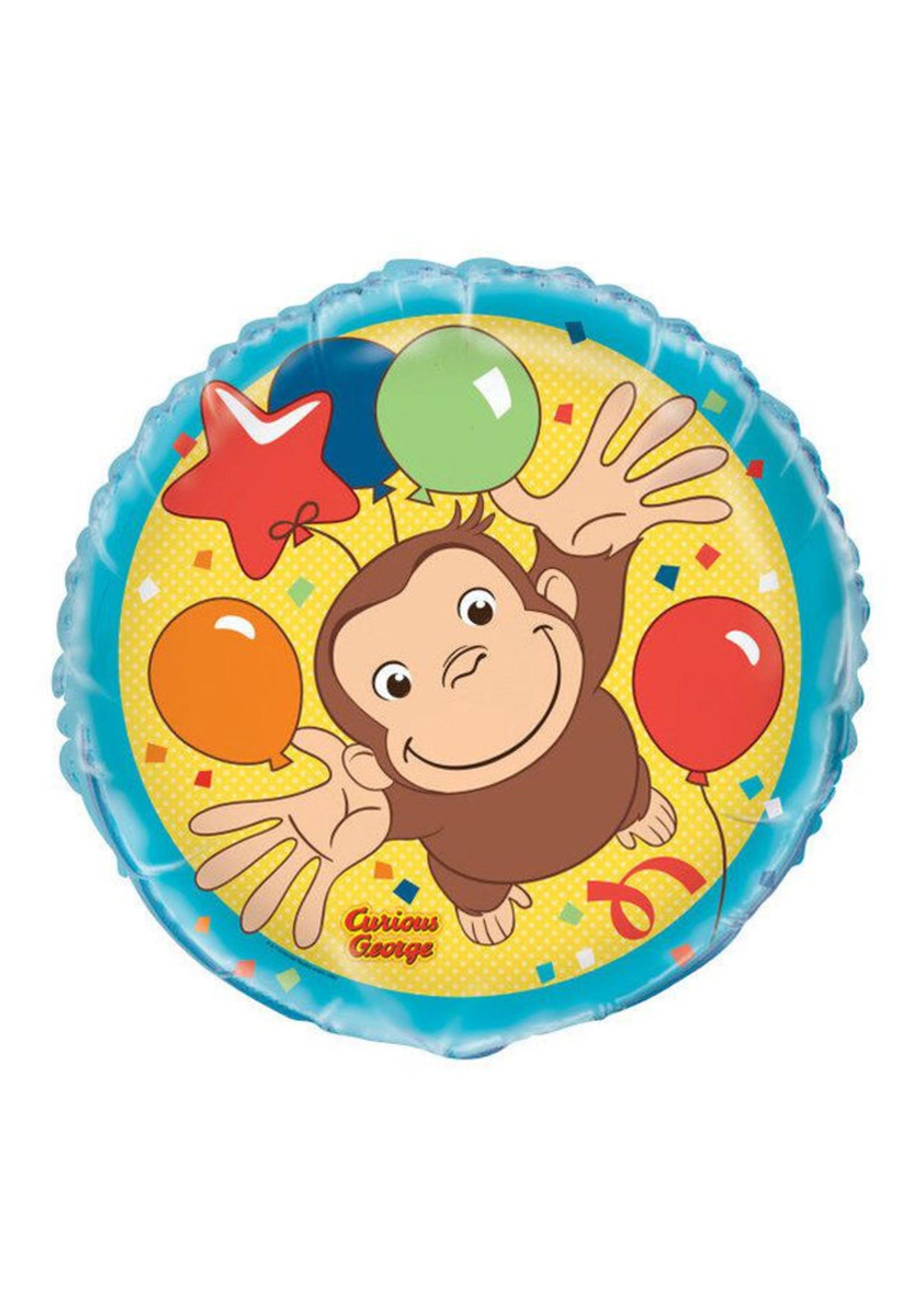 """UNIQUE INDUSTRIES INC Curious George 18"""" Foil Balloon"""