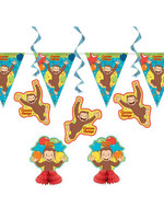 UNIQUE INDUSTRIES INC Curious George 7pc Decoration Kit