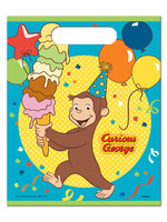 UNIQUE INDUSTRIES INC Curious George Loot Bags - 8ct