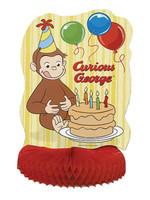 """UNIQUE INDUSTRIES INC Curious George Honeycomb 14"""" Centerpiece"""
