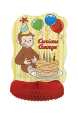 "UNIQUE INDUSTRIES INC Curious George Honeycomb 14"" Centerpiece"