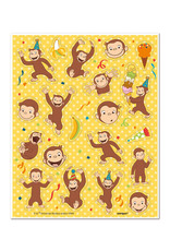 UNIQUE INDUSTRIES INC Curious George Sticker Sheets - 4ct