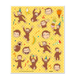UNIQUE INDUSTRIES INC Curious George Sticker Sheets - 4ct