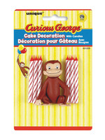 UNIQUE INDUSTRIES INC Curious George Cake Decoration & Candles - 7ct