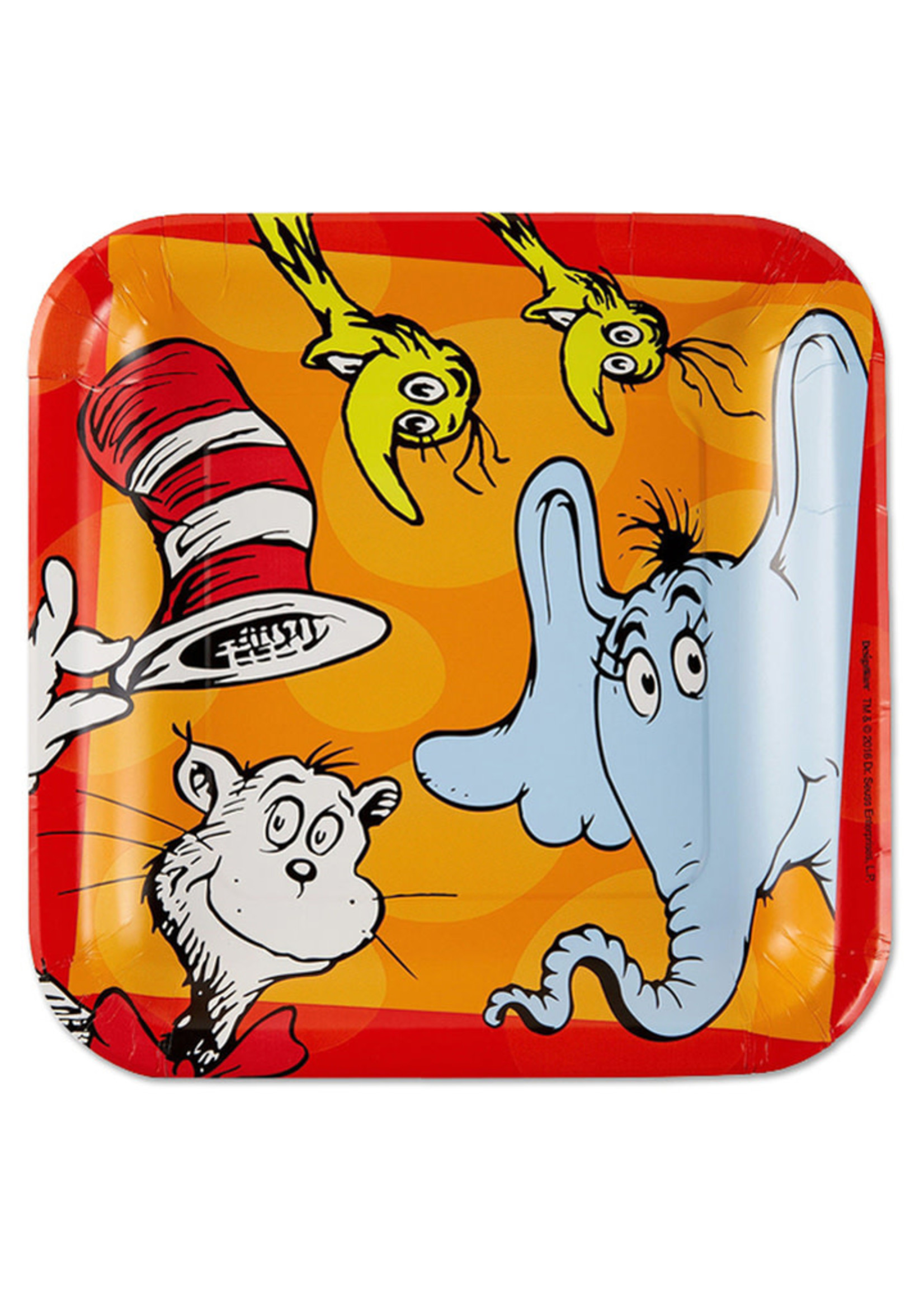 Dr. Seuss Square 9in Plates - 8ct