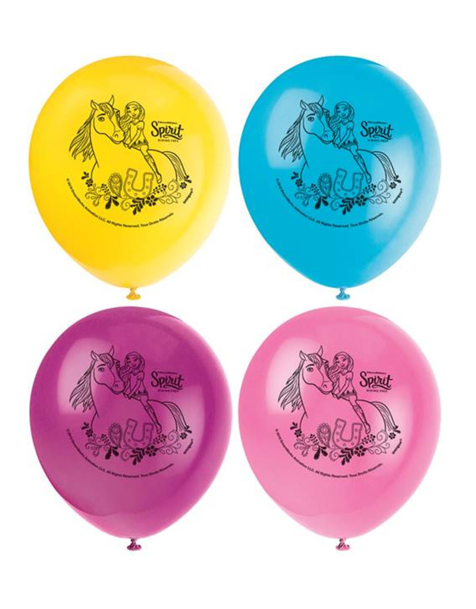 UNIQUE INDUSTRIES INC Spirit Riding Free 12in Latex Balloons - 8ct