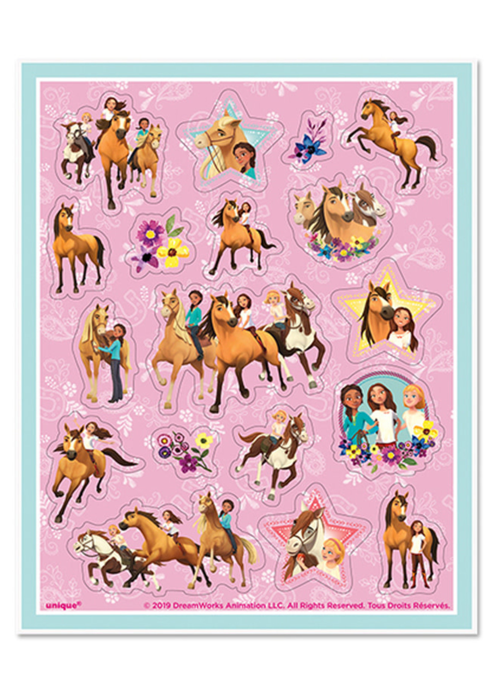 UNIQUE INDUSTRIES INC Spirit Riding Free Sticker Sheets - 4ct