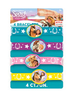 UNIQUE INDUSTRIES INC Spirit Riding Free Rubber Bracelet - 4ct