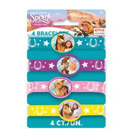 UNIQUE INDUSTRIES INC Spirit Riding Free Rubber Bracelet - 4ct