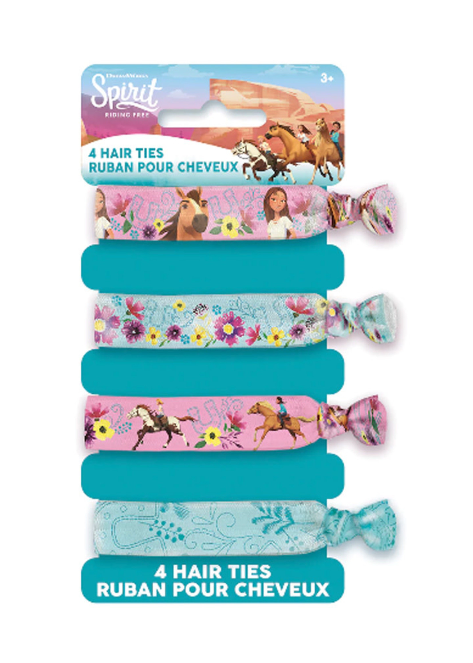 UNIQUE INDUSTRIES INC Spirit Riding Free Hair Ties - 4ct
